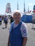 Maggie at the tall ships fair