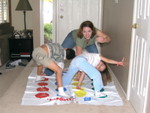 JEssica, Legacie, and Alec with their version of twister