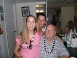 Me, John E, and Christine at Liz's luau