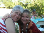 Maggie and Tracy at the luau